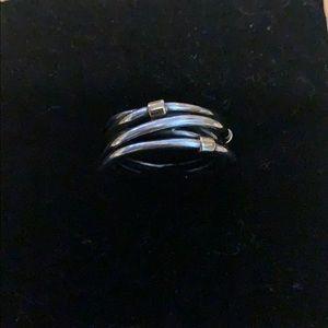 Sterling silver pandora ring